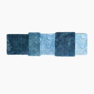 Blau gestreifter Over Teppich von Why Not für Emko