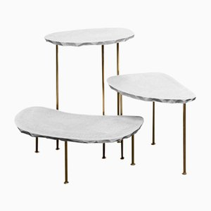 Modern Fossil Side Tables by MORGHEN, 2016, Set of 3