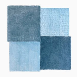 Tapis Medium Over Square Bleu par Why Not pour Emko