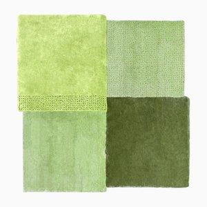 Alfombra Over mediana cuadrada en verde de Why Not para Emko
