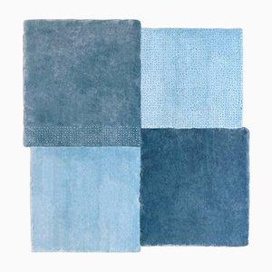 Tappeto grande quadrato blu di Why Not per Emko