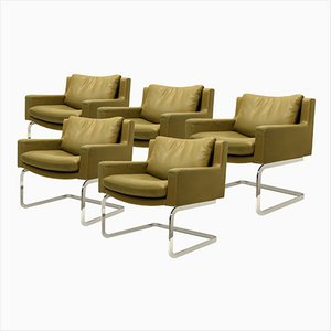 Executive Armchairs by Robert Haussmann for de Sede, 1957, Set of 5