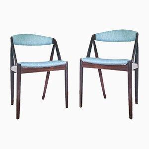 Modell 31 Rio Palisander Armlehnstühle von Kai Kristiansen für SVA Møbler, 1960er, 4er Set