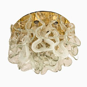 Murano Glass Catena Flush Mount Light by J.T. Kalmar, 1970s