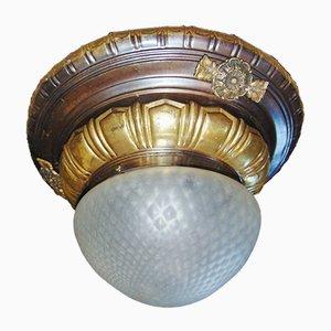 Lampada da soffitto Art Déco in ottone