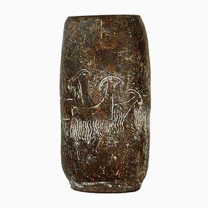 Jarrón de cerámica de Karen Karnes, años 60