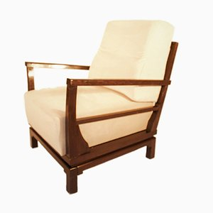 Vintage Lounge Chair in Cream by Lajos Kozma