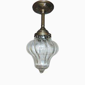 Art Nouveau Brass Ceiling Lamp