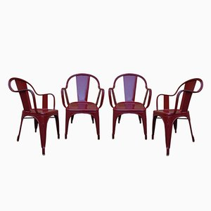 Sedie da giardino modello C di Xavier Pauchard per Tolix, anni '60, set di 4