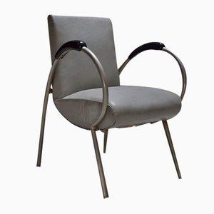 Moderner Metall & Skai Sessel, 1930er