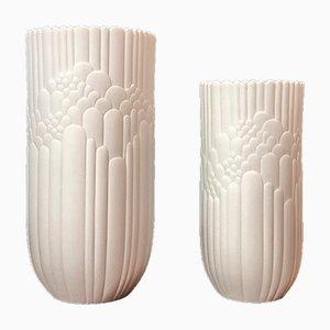 Vases Mid-Century en Biscuit de Porcelaine par Rosamunde Nairac pour Rosenthal Studio Line, 1960s, Set de 2