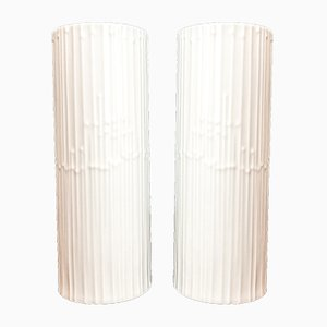 German White Studio Line Porcelain Vases by Tapio Wirkkala for Rosenthal, 1970s, Set of 2