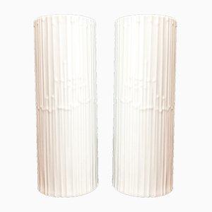 Jarrones alemanes de porcelana Studio Line en blanco de Tapio Wirkkala para Rosenthal, años 70. Juego de 2