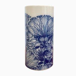 Vaso blu e bianco di Martin Freyer per Rosenthal, Germania, anni '70