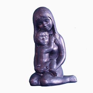 Belgian Maternity Sculpture by Emiel Laskaris, 1960s