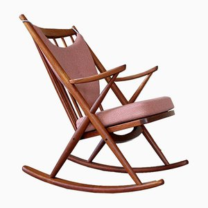 Mid-Century Danish Rocking Chair by Frank Reenskaug for Bramin