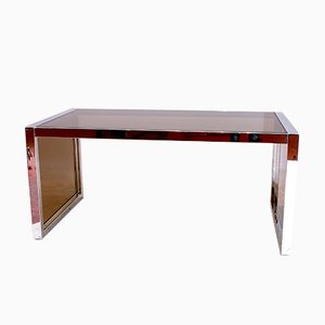 Large 2-Tone Desk from Belgo Chrom, 1970s