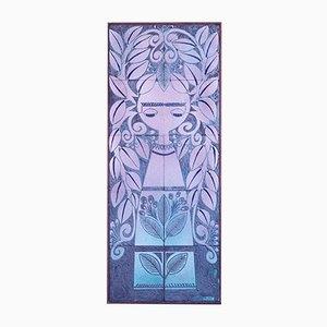 Panneau en Céramique par Fernande Massart pour La Maîtrise de Nimy, 1940s