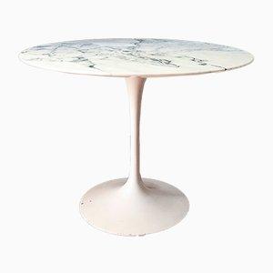 Weißer Tulip Tisch aus Marmor von Eero Saarinen für Knoll International, 1970er