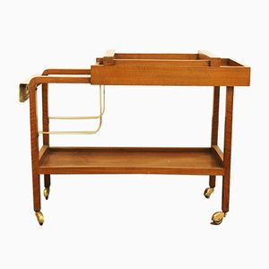 Italian Teak Bar Trolley, 1960s