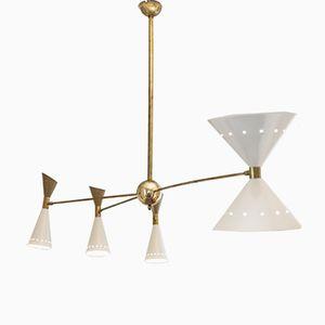 Asymmetrische italienische Mid-Century Deckenlampe von Stilnovo