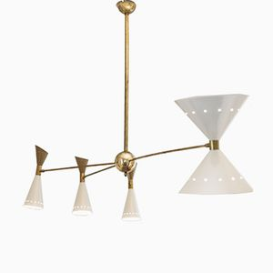 Mid-Century Italian Asymmetrical Ceiling Lamp from Stilnovo