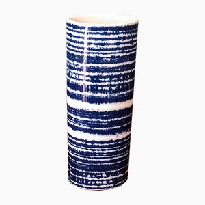White & Blue Vase by Hans Theo Baumann for Rosenthal Studio Line, 1970s