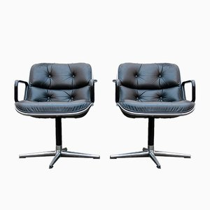 Executive Chairs by Charles Pollock for Knoll, 1970s, Set of 2