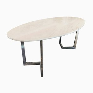 Oval Marble Table, 1970s