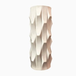 Mid-Century German Op Art Bisque Porcelain Vase by Heinrich Fuchs for Hutschenreuther, 1960s