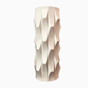 Vase Op Art Mid-Century en Biscuit de Porcelaine par Heinrich Fuchs pour Hutschenreuther, Allemagne, 1960s