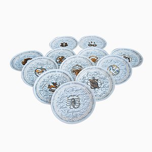 Mid-Century Zodiac Plates by Piero Fornasetti, Set of 12