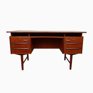 Teak Schreibtisch mit schwebender Platte, 1960er