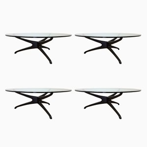 Mid-Century Tri-Symmetric Tables by Vladimir Kegan, Set of 4