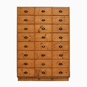 Large Pine Chest of Drawers, 1940s