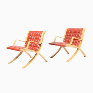 Vintage AX Lounge Chairs by Peter Hvidt & Orla Mølgaard-Nielsen for Fritz Hansen, Set of 2