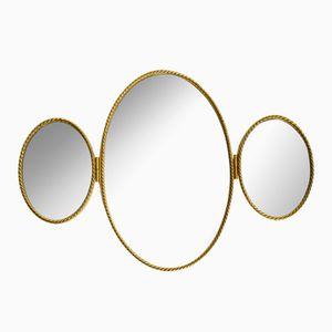 Mid-Century Modern Triple Wall Mirror