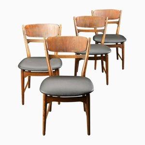 Chaises Vintage Scandinaves Modernes par Arne Wahl Iverson, Set de 4