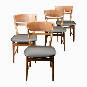 Vintage Scandinavian Modern Chairs by Arne Wahl Iverson, Set of 4