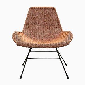 Stuhl aus Korbgeflecht von Kerstin Hörlin-Holmquist, 1950er