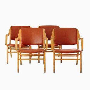 Vintage Ax Chairs by Peter Hvidt & Orla Mølgaard-Nielsen for Fritz Hansen, Set of 4