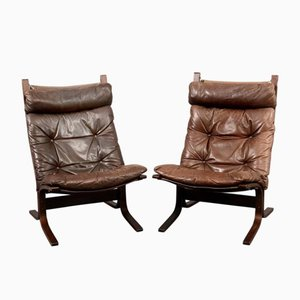 Vintage Scandinavian Siesta Lounge Chairs by Ingmar Relling for Westnofa, Set of 2