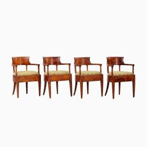 Schwedische Biedermeier Stühle, 1820er, 4er Set