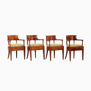 Swedish Biedermeier Chairs, 1820s, Set of 4
