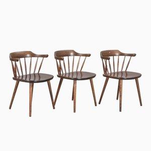 Smaland Stühle von Yngve Ekström, 3er Set