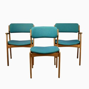 Danish Oak Chairs by Erik Buch, 1950s, Set of 3