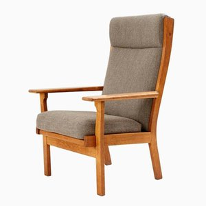 Vintage High Back Lounge Chair by Hans J. Wegner for Getama
