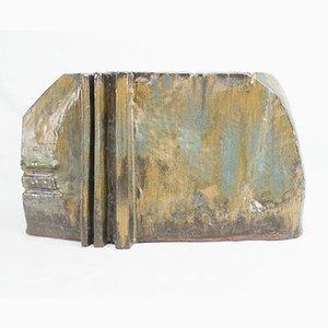 Jarrón brutalista grande de cerámica, años 60
