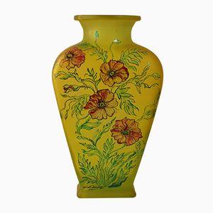 Vaso Mid-Century fatto a mano in vetro di Les Grands Ducs