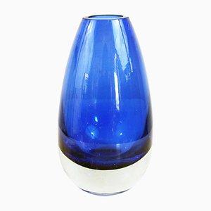 Kleine Mid-Century Vase von Riihimäen Lasi Oy